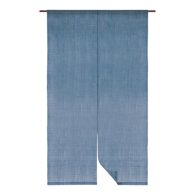 日本の伝統色 麻のれん 藍色