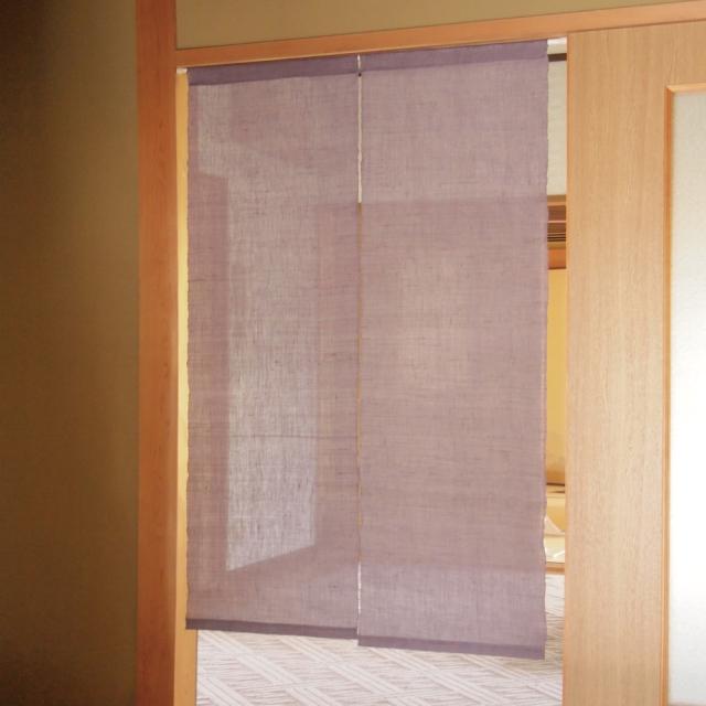 日本の伝統色 麻のれん 藤色 使用例