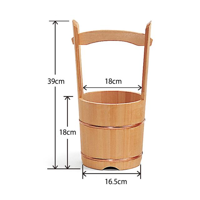 木製 手桶<小>