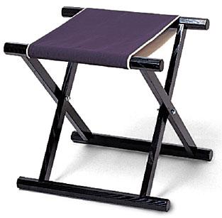 胡床(こしょう)・黒塗紫布タイプ 5脚組