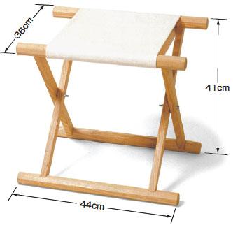 胡床(こしょう)・白木白布タイプ 5脚組