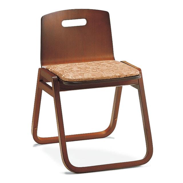 本堂用 木製 お詣り椅子 II 背もたれ付きタイプ 4脚組