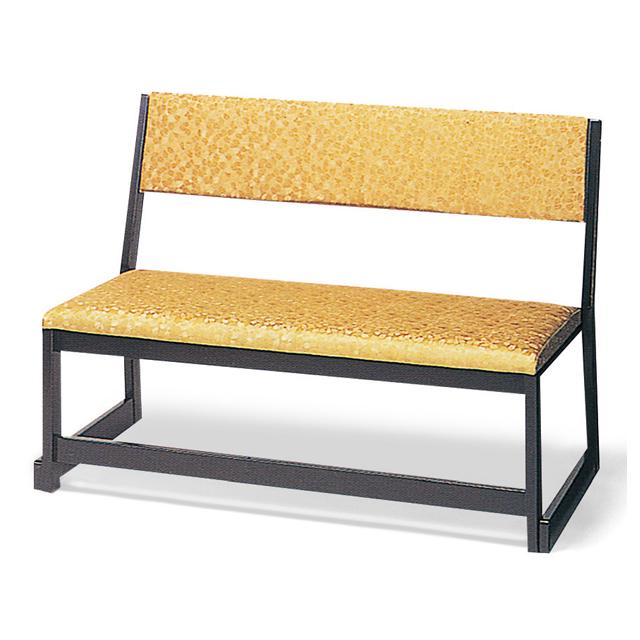 本堂用 木製 二人掛椅子