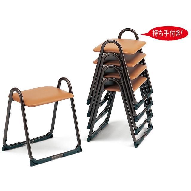 アルミ製 本堂用 椅子持ち手付き型・背もたれなし・大寸