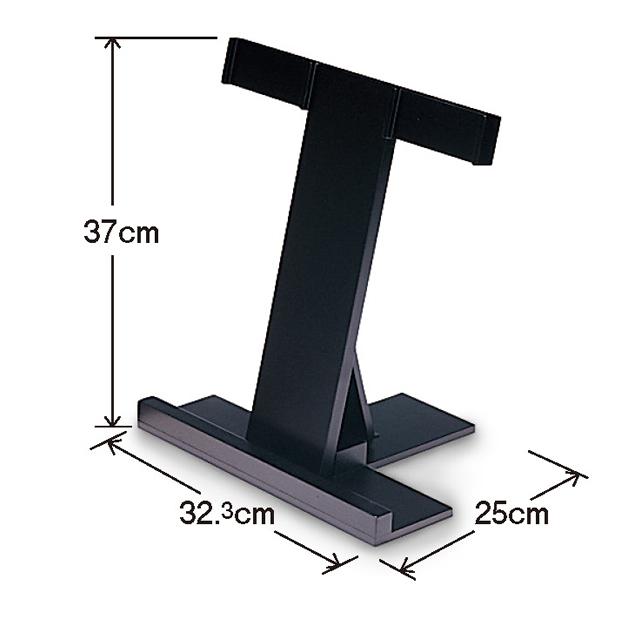 携帯用 折り畳式塔婆立(3本立) 黒塗