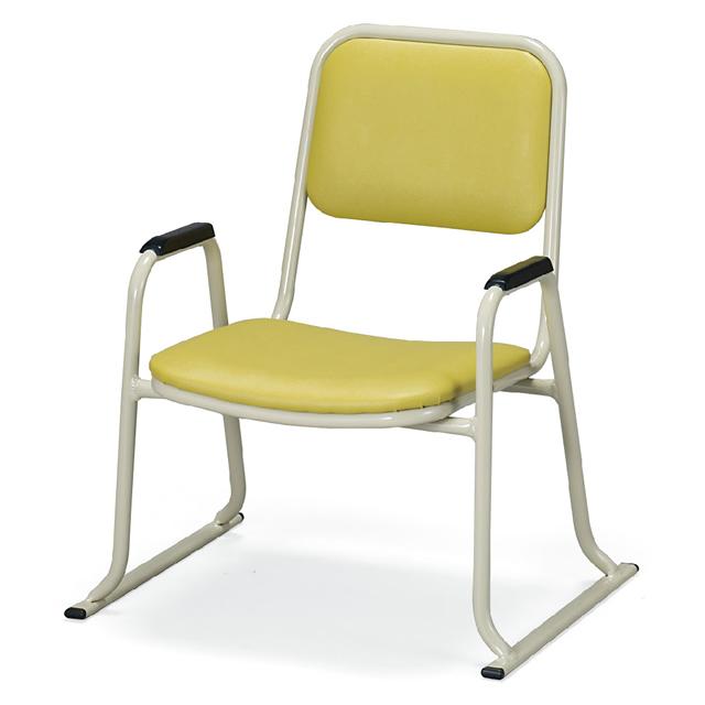 アルミ製 肘付き 本堂用 お詣り椅子