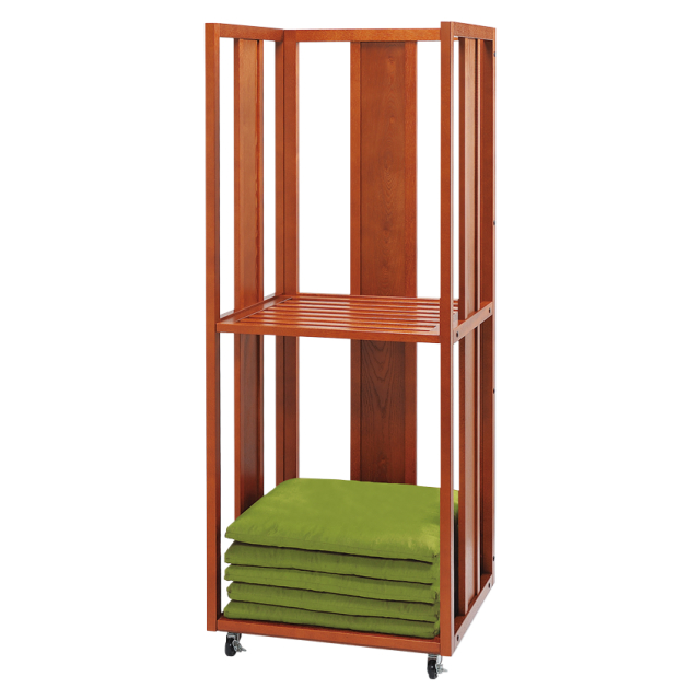 木製 座布団収納棚