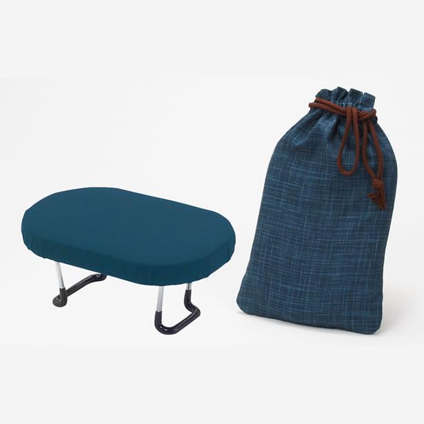 折畳式 らくらく 椅子 青無地