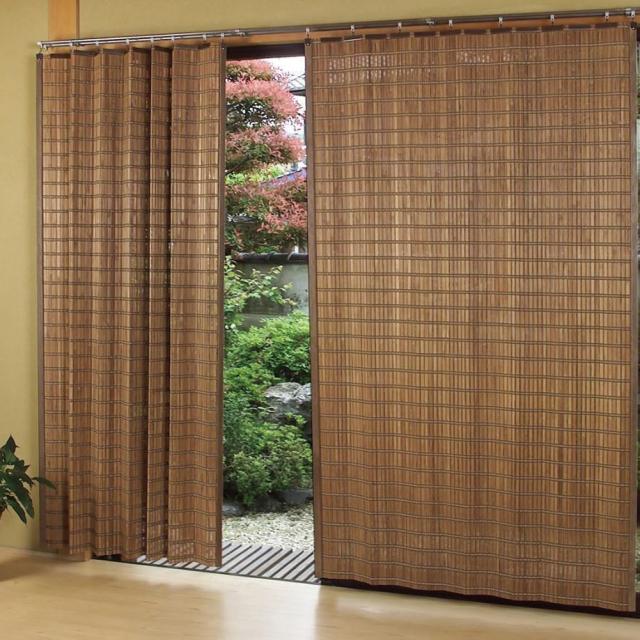 燻製竹 すだれカーテン 平ヒゴタイプ