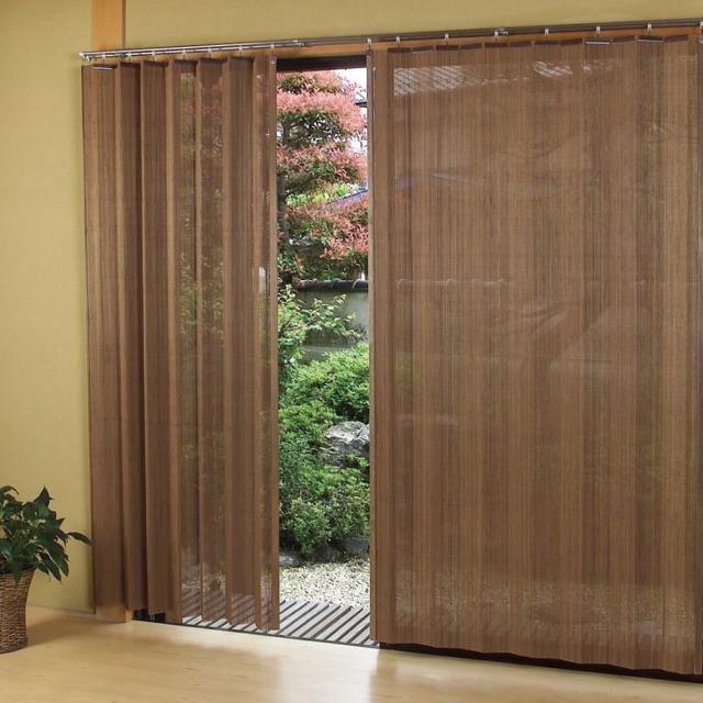 燻製竹 すだれカーテン 細ヒゴタイプ