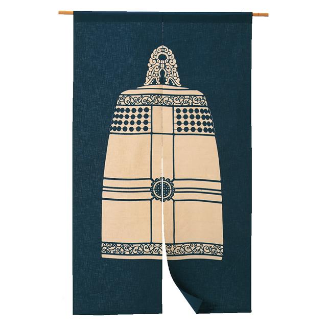 藍染 綿のれん「梵鐘」 長尺