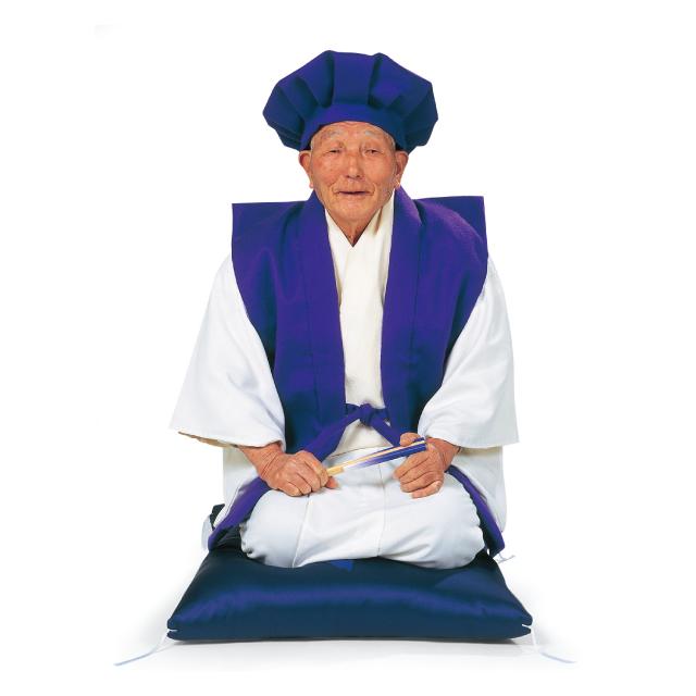 長寿・御祝着(頭巾・でんちセット<紫>)