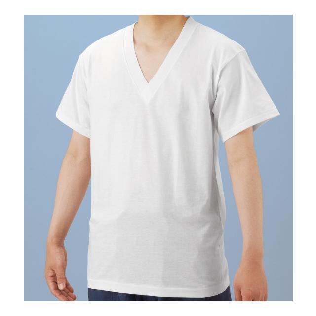和装 V襟 Tシャツ