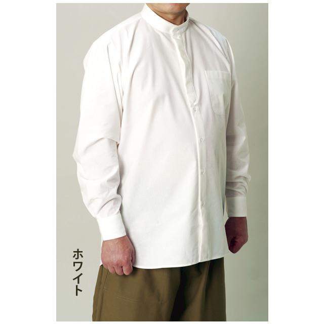 マオカラーシャツ ホワイト