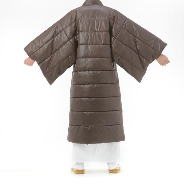 綿入り 大型コート 後側
