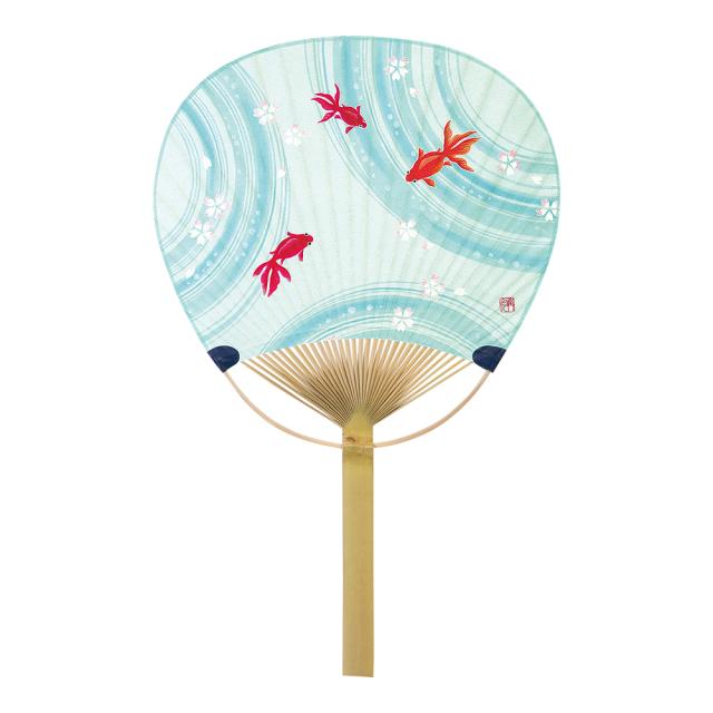 唐月〈上〉 竹うちわ 夢金魚