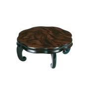 木製 花台 華(背低タイプ) 黒檀調 1個