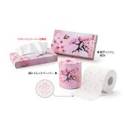 桜 トイレットペーパー/ティッシュBOX