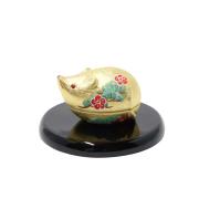陶器製 干支置物 香炉「福香り」 化粧箱入り 1個