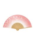 【女性用】 扇子 白竹中彫 桜
