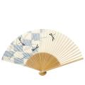 【紳士用】 扇子 白竹中彫 トンボ(市松模様)
