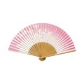 【女性用】 扇子 白竹中彫 桜に蝶