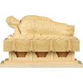 釈迦涅槃像 白木 ヒノキ製