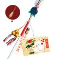 干支中型絵馬(子)・破魔矢セット 木製朱塗り軸 10本組