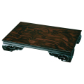 木製 花台 透かし平台 黒檀調 1個