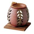 茶香炉 石龍・縦木の葉