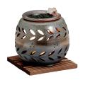 茶香炉 石龍・横木の葉