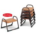 アルミ製 本堂用 椅子持ち手付き型・背もたれなし・小寸