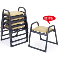 アルミ製 本堂用 椅子肘付き型・背もたれなし・大寸