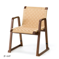 木製 背付き お詣り椅子<飛鳥> 座面高40cm ゴールド