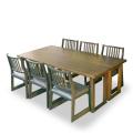 折りたたみ式 集宴机 6尺幅・木製背付き椅子