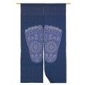 藍染 綿のれん「仏足」 長尺