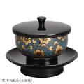 黒 青粒鉄仙(九谷焼)