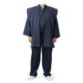 新・道中着 元禄袖上衣・袴風ズボン セット 濃紺色