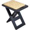 折畳式 軽便椅子「おともにいーす」 黒塗レザー 標準タイプ