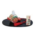 陶器製 干支置物 金彩「福運び」 化粧箱入り 1個
