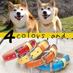 犬首輪 OT-M3 犬の首輪 本革製 迷子札も取付出来ます