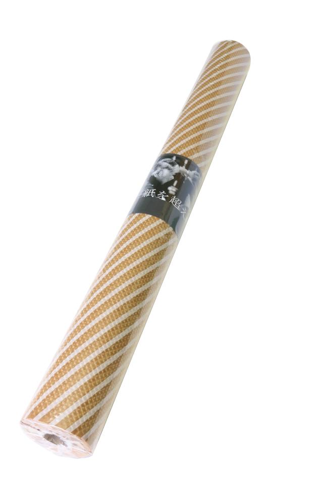 teshioロール【エンボス・ワックス(ホワイトストライプ)】75cm×20m 1本 [ 190円/m]