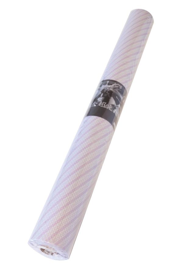 teshioロール【エンボス・ワックス(スイートラベンダーストライプ)】75cm×20m 1本 [ 190円/m]
