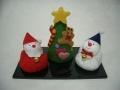【スノーマンセット】 クリスマスのちりめん飾り