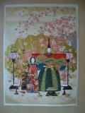 【桜の立雛】 友禅紙