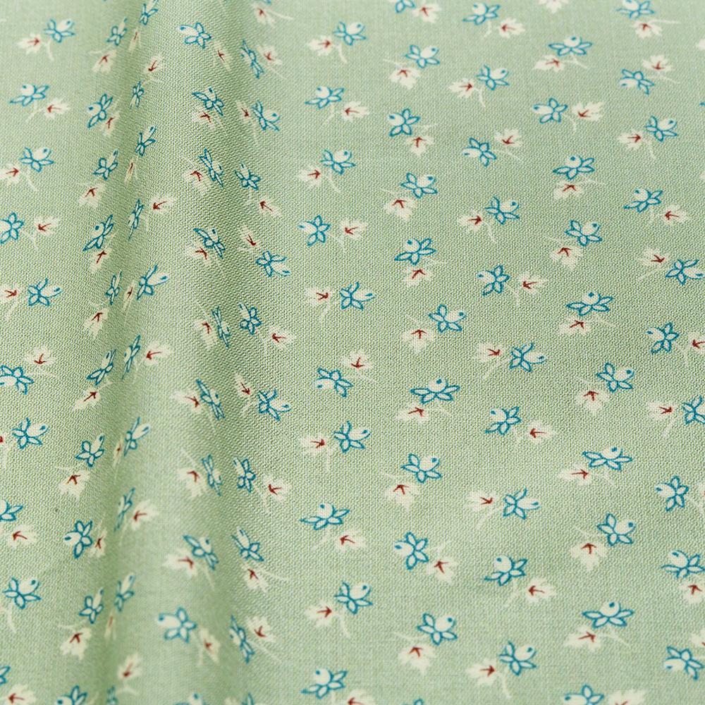 textile pantry JUNKO MATSUDA バラつぼみ スケア生地 グリーン