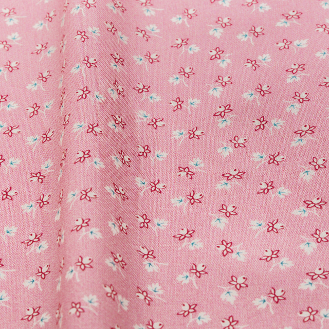 textile pantry JUNKO MATSUDA バラつぼみ スケア生地 ピンク