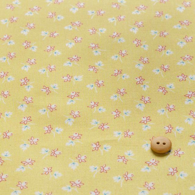 textile pantry JUNKO MATSUDA バラつぼみ スケア生地 イエロー