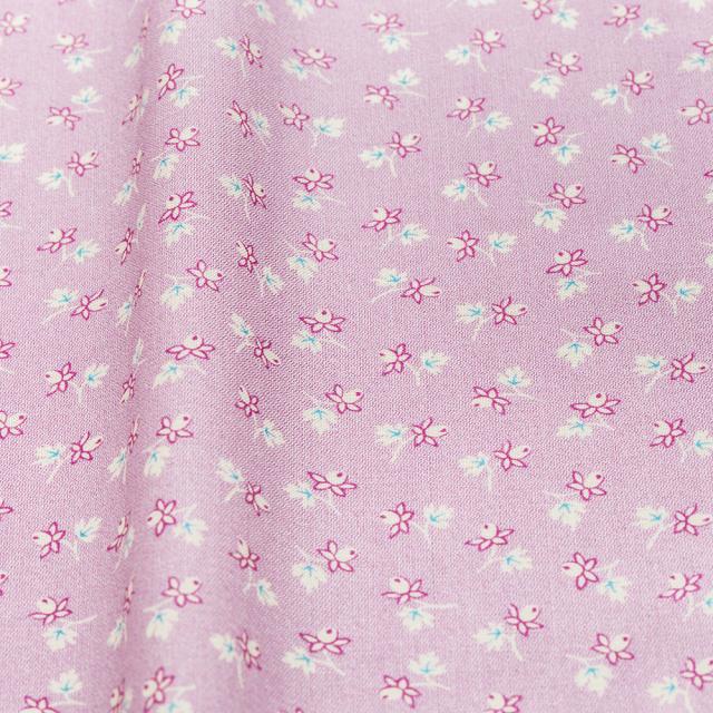 textile pantry JUNKO MATSUDA バラつぼみ スケア生地 パープル