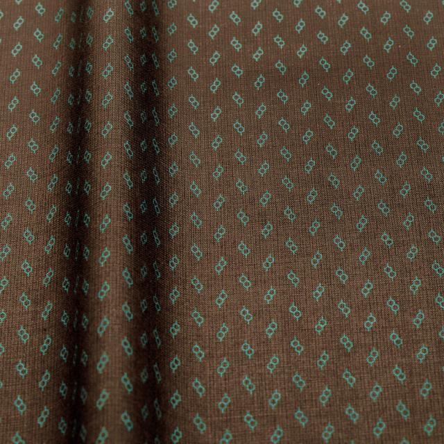 textile pantry JUNKO MATSUDA glasses スケア生地 ブラウン